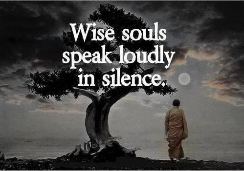 Silence and Wisdom go hand in Hand