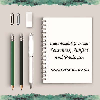Grammar Lesson Sentences