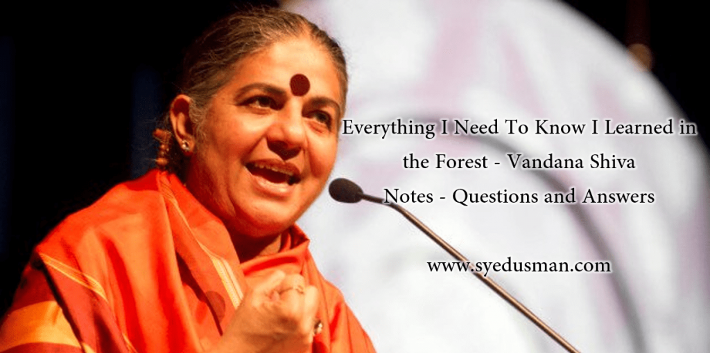 Vandana Shiva Everything I Need To Know I Learned In the Forest